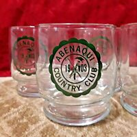 Set of (4) Vintage Houze Abenaqui Country Club Golf Drinking Glasses  Rye NH