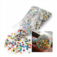 Glass Crystal Mosaic Tiles Wall Craft Stained Glass Decor DIY Craft Mixed Colors