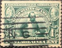 Vintage Scott #328 US 1907 1 Cent Jameston Exposition Postage Stamp