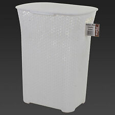 PLASTIC LAUNDRY BASKET CLOTHES CLOTHING WASHING HAMPER STORAGE BIN WITH CLIP LID