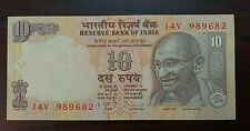 1 Note - 10 Rupee  Gandhi India Bank Note - UNC #02us - FREE SHIPPING