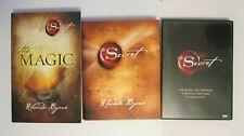 3 Lot Rhonda Byrne 2006 The Secret HC Book & DVD, 2012 The Magic PB Book