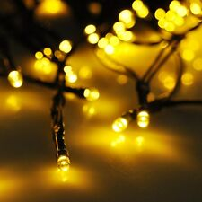 60 LEDs Yellow Solar Fairy String Light Waterproof Wedding Holiday Party Decor