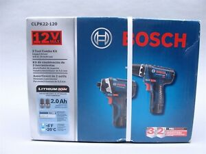 NEW Bosch CLPK22-120 2 Tool Combo Kit Impact/Drill I-40705