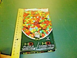 """500 piece cardinal hd puzzle jelly beans 14 x 11"""" Small pieces Challenging"""