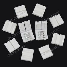 Set 10x Connettore 4 Pin Chiudere Alimentazione Striscia LED SMD 5050 RGB 10mm