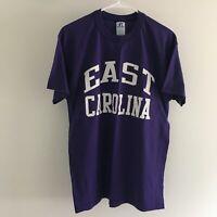 East Carolina University Pirates Purple T-Shirt Mens M Medium Russell Athletic