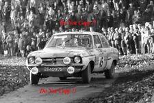 Henri GREDER & Peter Jopp OPEL ASCONA RAC RALLY 1972 Photographie 1