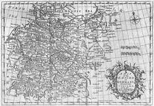 La Germania. IMPERO di cerchi. Lodge 1782 VECCHIO ANTICO VINTAGE MAPPA piano Grafico