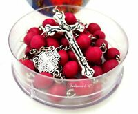 Jerusalem Rosary Holy Beads Catholic Necklace Cross Crucifix Vintage Bead gift