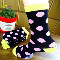 1Pairs Socks Men's Casual Dress Socks Polka Dots Multi-Color Socks 20*20cm CH161