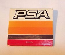 'PSA' - Pacific Southwest Airlines Matchbook, 1970's Vintage RARE, FREE SHIPPING