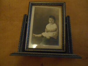 VINTAGE ART DECO  SILVERED SWIVEL FRAME PICTURE SIZE APPROXIMATELY 5 X 7 INCHES