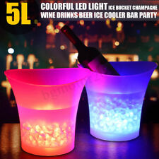 5L LED Light Ice Bucket Champagne Wine Drink Beer Ice Cooler Bar Party RGB Color