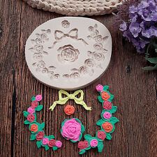 Silicone Flower Cutter Mold Sugarcraft Fondant Cake Baking Decor Pastry Mould