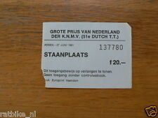 1981 TICKET DUTCH TT ASSEN 1981 GRAND PRIX,MOTO GP