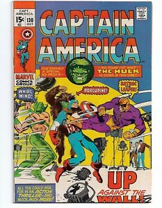 Captain America #130 (Oct 1970) HULK! Mis-cut cover. No Reserve/ Free Shipping!