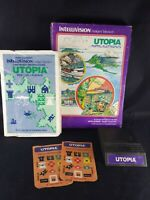 Intellivision Utopia Complete Video Game Box with overlays and manual