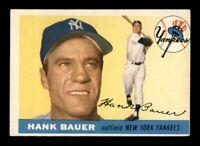 1955 Topps Set Break # 166 Hank Bauer EX *OBGcards*