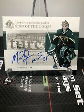 2004-05 UD SP Authentic Marty Turco Sign Of The Times Auto Dallas Stars #ST-MT