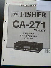 Original Service Manual  Fisher Integrated Stereo Amplifier CA-271