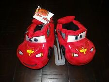 NWT Disney Cars Lightning McQueen Toddler Boy Slippers House Shoes Large 5-6