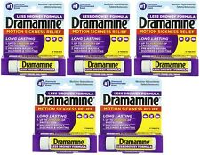 Dramamine Motion Sickness Relief Less Drowsey Formula, 8 Count (Pack of 5)