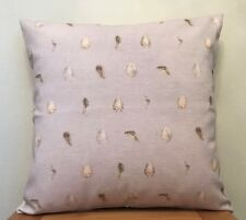 Wrendale Design **EGG & FEATHER** Cotton/Linen Blend Cushion Cover ~ 40cm