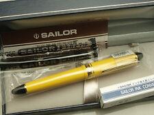 Japanese Sailor Profit Color 1019 Yellow 14K Fine-nib with converter 11-1201-270