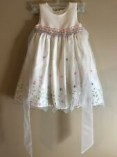 American Princess Fancy Party Dress Ivory Embroidered Flowers Wedding 3T