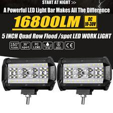 5inch LED Work Light Bar Spot Flood Combo Pods OffRoad Driving Reverse IP68 Pair