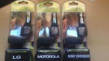 Cargador eléctrico y de coche Oxo. Para marcas LG, Motorola y Sony Ericsson.