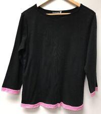 Blissful Babes Nursing Wear Size XL Top Black Pink Lace Hemline