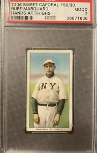 t206 Rube Marquard Hands At Thighs Sweet Caporal 150/30 PSA 2