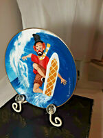 """Red Skeleton 1987 Collector Plate """" IRONING THE WAVES"""" RARE VINTAGE HTF DVG"""