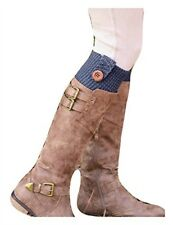 Simply Noelle Women's One Size Light Knit Leg Warmers with Button