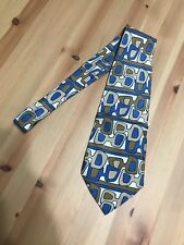 Vintage 1970s GUCCI ABSTRACT NECKTIE Wide Tie 100% SILK MADE IN ITALY Rare Funky