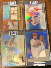 2012 Topps Tribute Phillies Lot Ryan Howard Patch /25 Carlton, Rollins, Lee (MW)