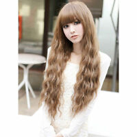 New Women Girl Fashion Long Wavy Curly Hair Cosplay Costume Party Full Wigs BG