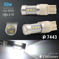 2X 50W 7443/7440 LED 6000K White Reverse Backup High Power Light Bulbs
