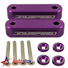 New Purple JDMSPEED Hood Spacer Risers Kit Set For Acura Integra Honda Civic