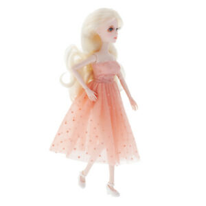 Lovely 1/6 Girl Doll Con Trucco 12inch Princess Dolls Gifts Dot Dress