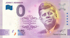 Commemorative 0 Euro Banknote of John F Kennedy for Collectors or as a Souvenir