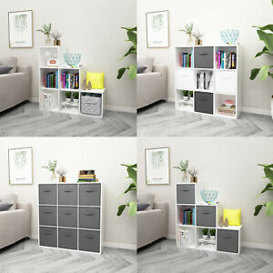 Wooden 6/9 Cube White Bookcase Shelving Unit Display Storage Shelf Office Home