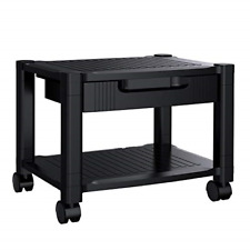 Printer Stand Under Desk Printer Stand With Cable Management Amp Storage Drawers