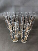 Anchor Hocking Golden Peaks Gold Black Atomic Arrow Tumblers Lot 9 MCM