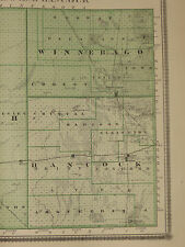 1875 Atlas of 7 Iowa Counties - Worth Emmet Palo Alto Hancock Winnebago Kossuth