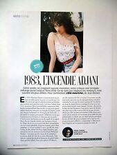 COUPURE DE PRESSE-CLIPPING : Isabelle ADJANI 1983 l'été Meurtrier  07/201