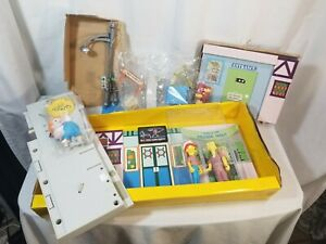 The Simpsons MAIN STREET Interactive Environment w/ 2 Figures. NEW