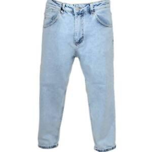 Pantaloni Jeans chiaro denim biker sfumato Skinny fit chiusura con bottone e cer